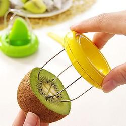 Descascador de cozinha, cortador de frutas, aparelho de corte, descascador de frutas, cortador de kiwi, 1 peça