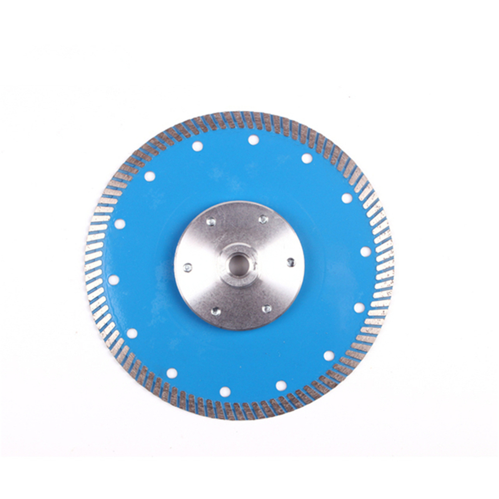 DB53 Diamond Turbo Cutting Disc With Thread Flange D230mm 9 Inch Continuous Rim Turbo Segment Blades For Hard Stone 10PCS