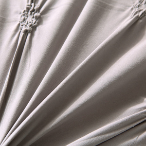 Image 4 - الفاخرة الكلاسيكية 2/3 قطعة أغطية السرير حاف طقم أغطية مع المخدة بلون الطيات طقم سرير واحد الملكة سرير ملكي الكتان