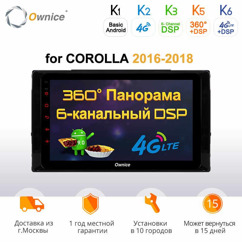 Ownice C500 + G10 android 8.1 Octa Core auto dvd voor Toyota COROLLA 2016 2017 2018 radio navigatie 2 + 32G auto stereo gps speler 4G