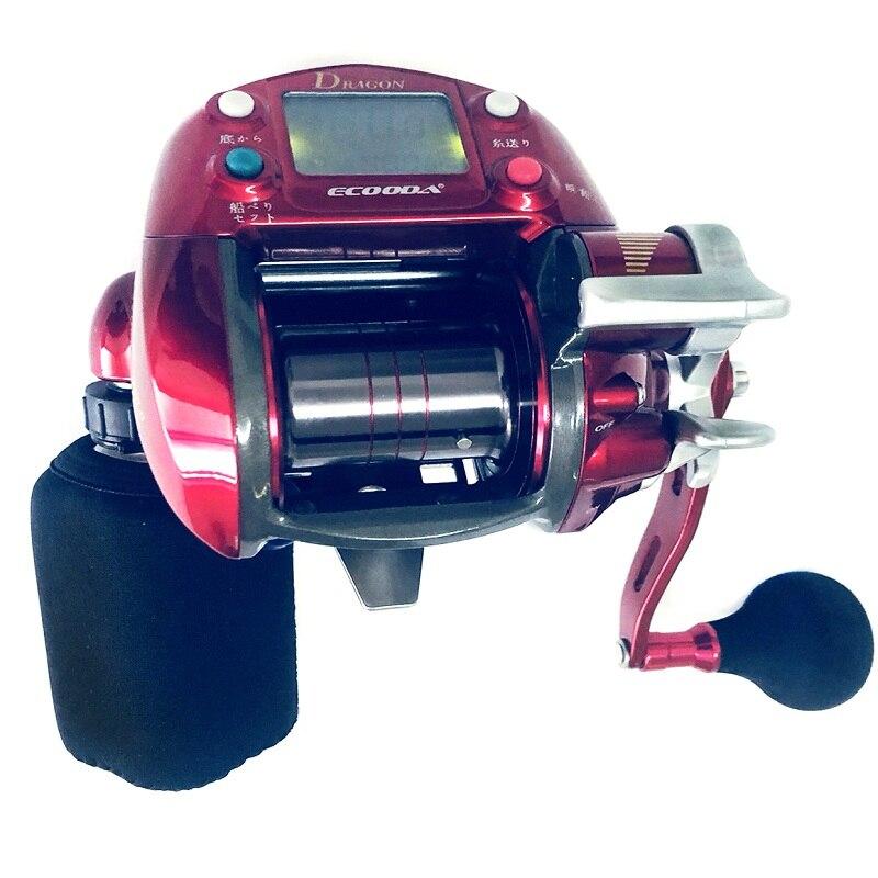 Bateau marin de mer profonde pêche électrique moulinet de pêche tambour de pêche à la traîne en eau salée bobine ronde batterie de treuil de grande capacité