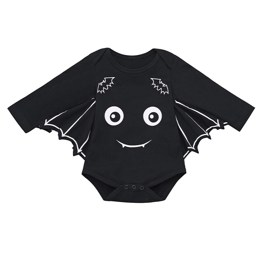 Infant Bat Costume | Halloween Bat Costume Newborn Baby Bodysuit Jumpsuit Cartoon Baby Girl Clothes Party Baby Body Suit Cotton Infant Girls Clothing