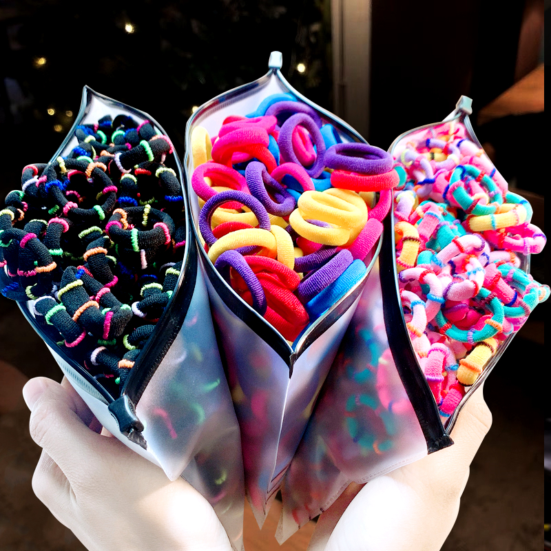 500/100/20/Bag Children Cute Elastic Hair Band For Girl Headband Elastic Rubber Band Rope Ponytail Baby Hair Accessories
