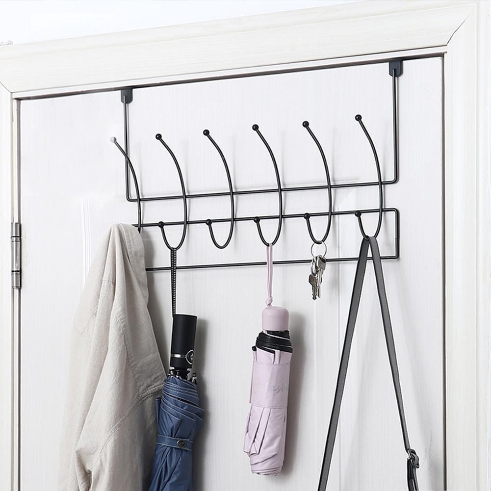 Heavy Wall Mounted Coat Rack Towel Rack Hook Rail Robe Plated Hook 4-hook