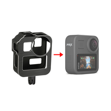 Aluminum Alloy Protective Cage Standard Frame with 2 Cold Shoe Mount for GoPro Max 360 Action Camera Live Streaming Vlog Parts