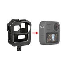 Marco estándar de la jaula protectora de aleación de aluminio con 2 soportes de zapata fría para GoPro Max 360 Cámara de Acción transmisión en vivo partes Vlog