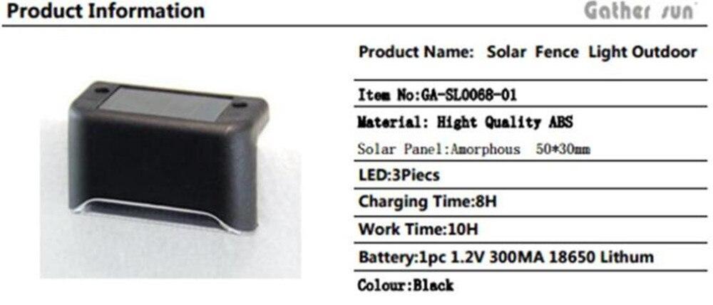 1 шт 3 светодиодный светильник на солнечной батарее водонепроницаемый