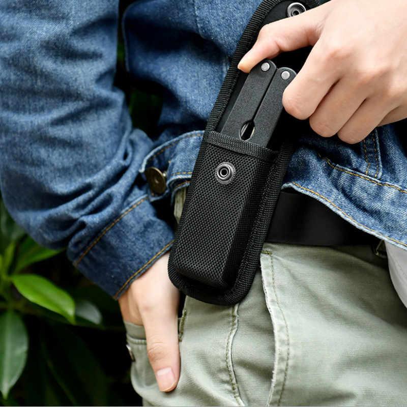 2Pcs Mini Nylon Holster Pouch for Small Pocket LED Flashlight 10.5cm*2.5cm