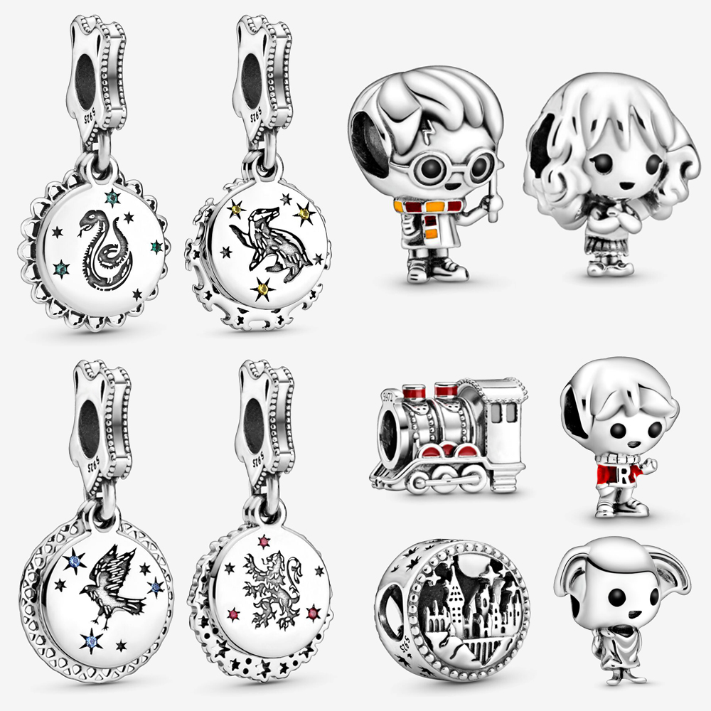 2020 New Arrival 925 Silver Beads Magician Academy Charm Fit Original Pandora Bracelet DIY Jewelry For Women