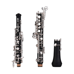 Image 3 - Muslady Professional Oboe C Key Semi automatic Style Nickel plated Keys Woodwind Instrument with Oboe Reed Gloves Leather Case