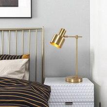 Nordic Postmodern Copper Table Lamp Simple Rotary Lamp Shade Studio Bedroom Individual Creative Table Lamp