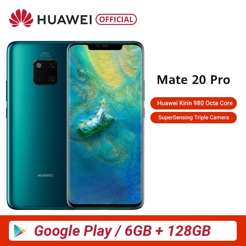 Global Rom Huawei Mate 20 Pro 6GB 128GB Mobile Phone Kirin 980 Octa Core 6.39 Inch OLED Android 9.0 4200mAh IP68
