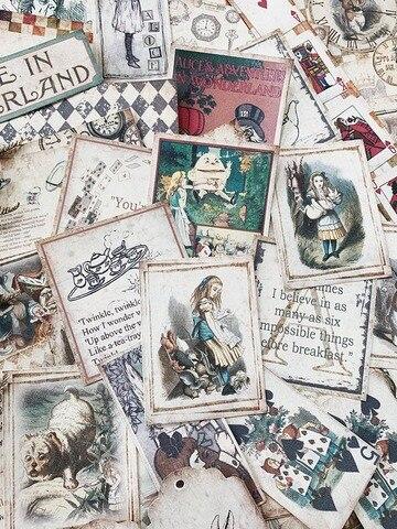 50 folhas do vintage adoravel alice cartoon
