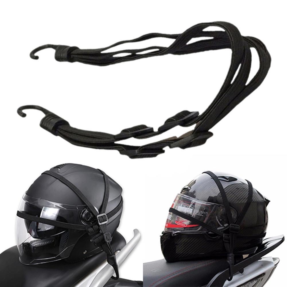 2019 New 60cm 2 Hooks Motorcycles Moto Strength Retractable Helmet Luggage Elastic Rope Strap