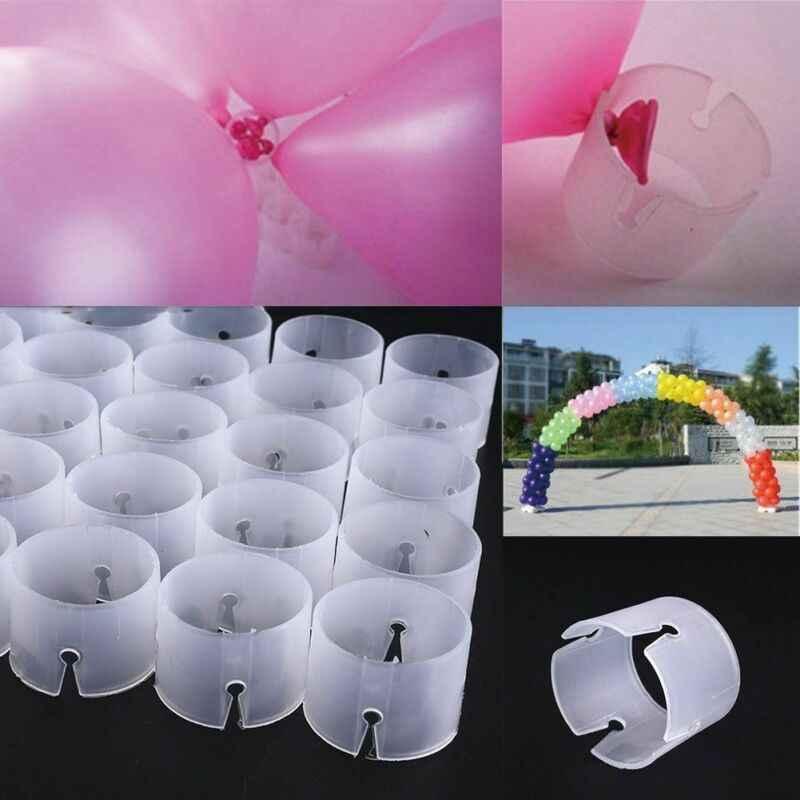 50 adet balonlar aksesuarları balon kemer standı konnektörler klip halka toka düğün doğum günü partisi dekoru sıcak malzemeleri