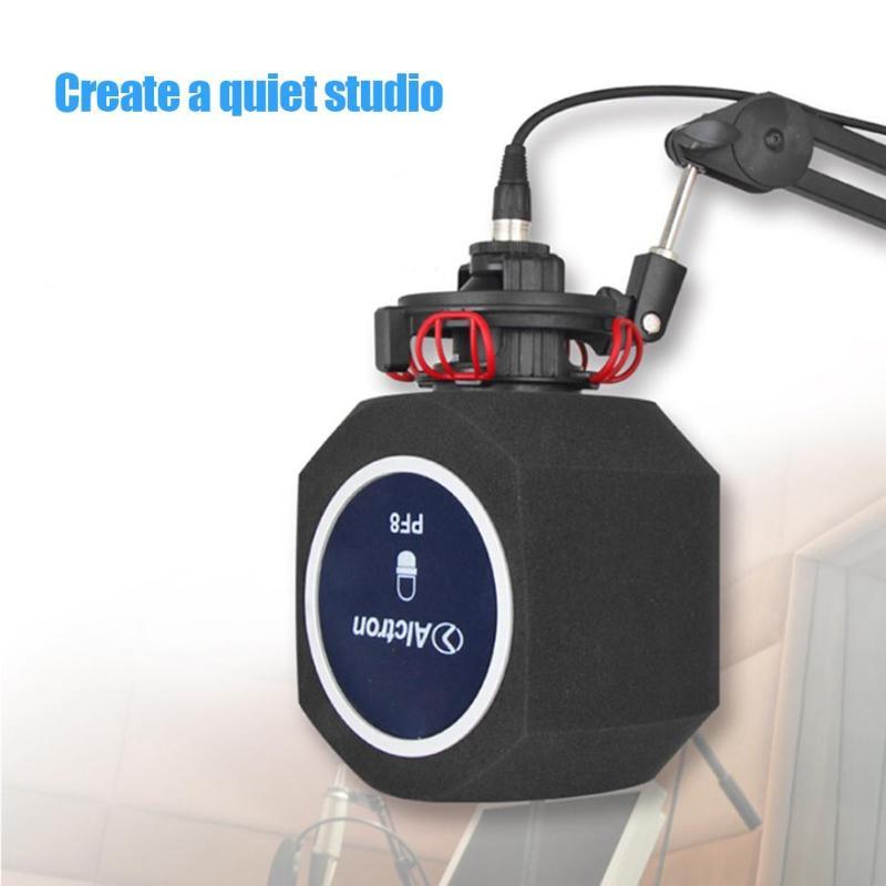 Original Alctron PF8 Neue Professionelle Einfache Studio Mic Bildschirm Akustische Filter Desktop Aufnahme Mikrofon Noise Reduktion Wind