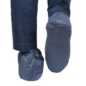Image 3 - Os recém chegados anti radiação eletromagnética sapato cobre emf blindagem unissex tampas de sapato de proteção de radiação