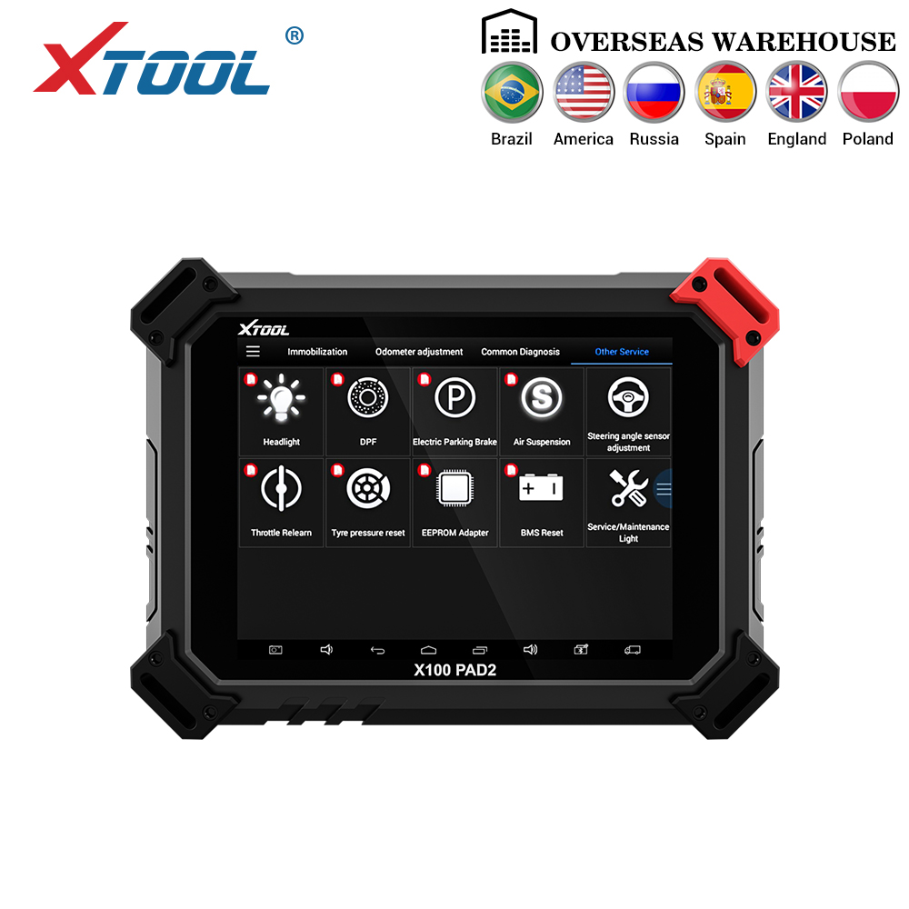 X100 PAD2 OBD2 Auto Key Programmer Odometer Correction Tool Code Reader Car Diagnostic tool with Special Function Update online
