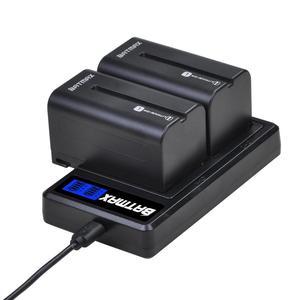 Image 5 - 2Pcs 5200mAh NP F750 NP F770 NP F750 배터리 Akku + LCD USB 충전기 소니 NP F970 F960 F550 F570 QM91D CCD RV100 TRU47E