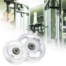 Universal 90mm/115mm diâmetro liga de alumínio wearproof rolamento polia roda cabo ginásio equipamentos fitness acessórios peças