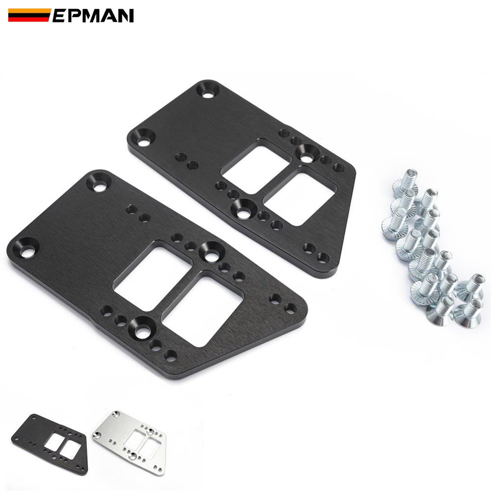 EPMAN Billet Aluminium Motor Mount Adapter Plates Billet Aluminium For Conversion LS Swap LS Conversion  LS1 EPEML1036LS