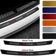 Carbon Fiber Tail Trunk Edge Protector Sticker Car Styling Rear Bumper Trim Decal for Citroen C4 C5 C3 C2 C1 C4L DS Picasso Saxo