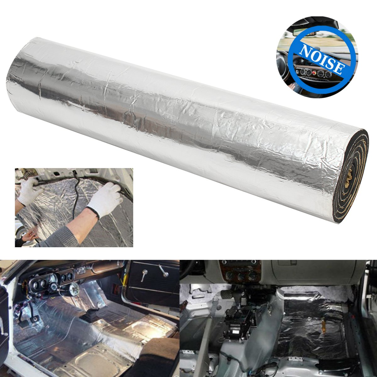 10mm 800X100cm Car Van Sound Proofing Deadening Insulation Foam Protector Waterproof Auto Sound Insulation Deadening Accessories