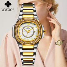 Женские золотистые модные квадратные часы montre femme 2021