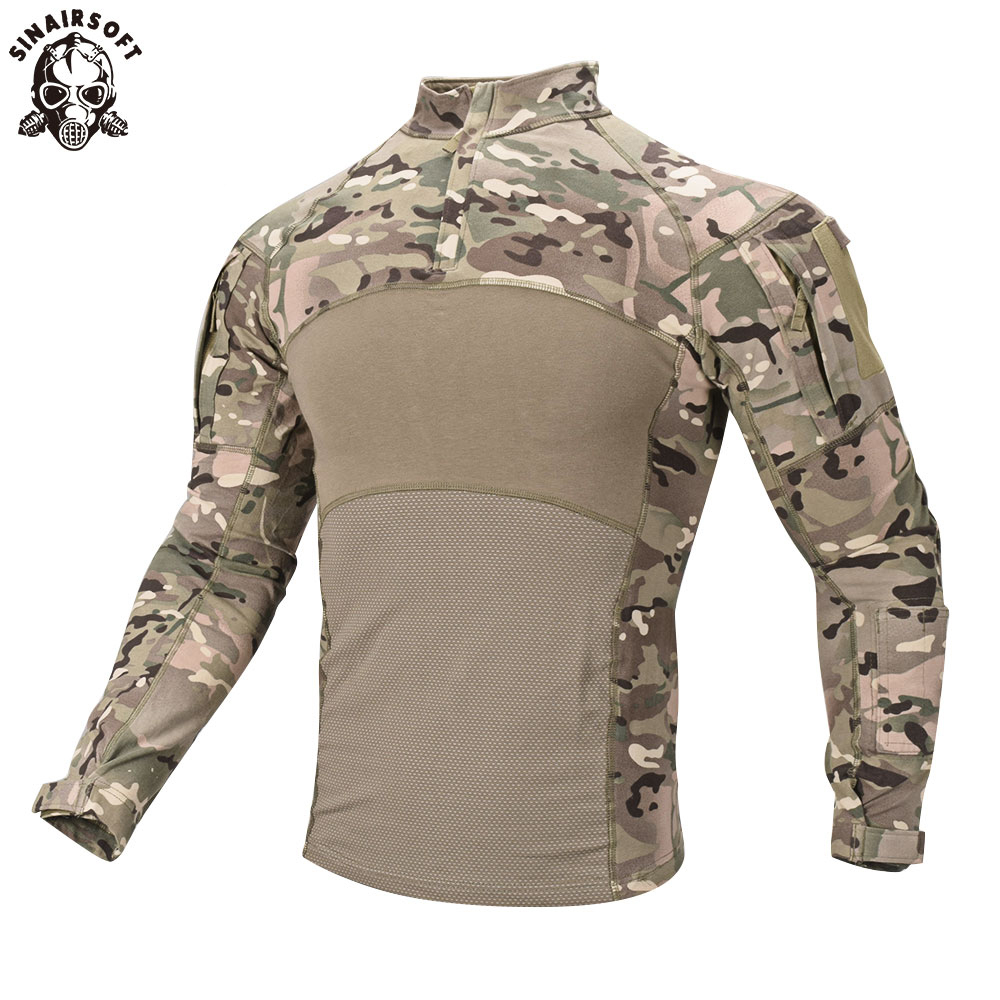 New Men Combat Shirts Proven Tactical Clothing Military Uniform CP Camouflage Airsoft Hunting Army Suit Breathable Work Clothes