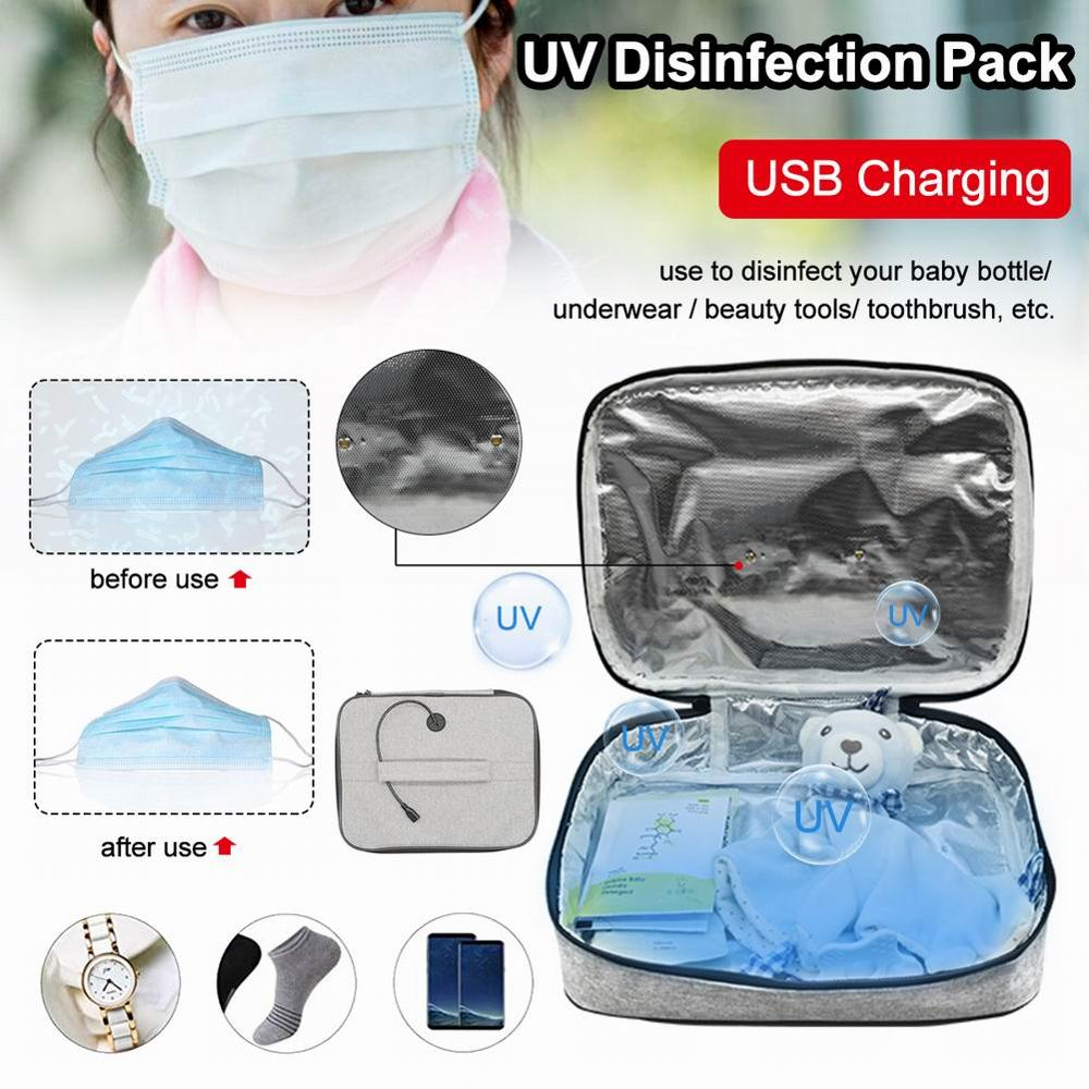 LED UVC Sterilizing Bag Portable LED Disinfection Bag For Baby Bottle Toothbrush Underwear Sterilization