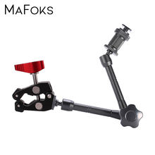 Multi Function แขน Magic Adjustable Super Clamp สำหรับกล้อง DSLR LCD/จอภาพ DV วิดีโอแสงสตูดิโออุปกรณ์เสริม