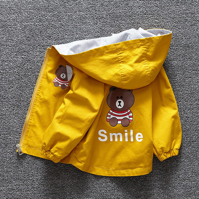 Children's Clothing 1-5 Years Old Boy Jacket Children Spring And Autumn Cute Baby Jacket Spring Shirt Baby Infant Windbreaker