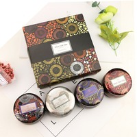 Aromatherapy Candle Romantic Gift Box Set 4 PCs Canned Candle Cup For Couple Candlelight Dinner Dating