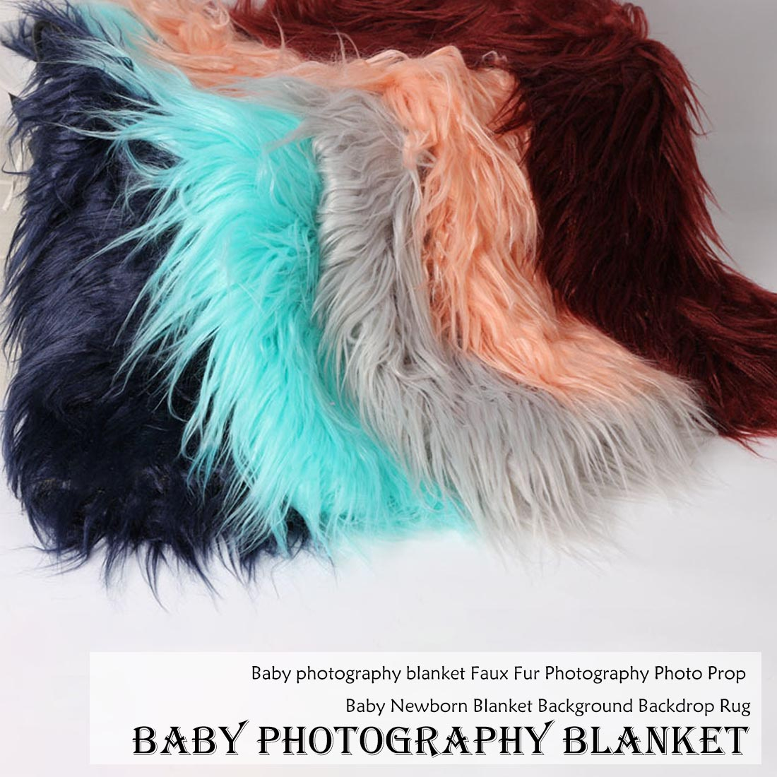 Curly Faux Fur Blanket For Baby Photography Props Basket Cushion Filler Baby Photography Shoot Blanket Photo Props