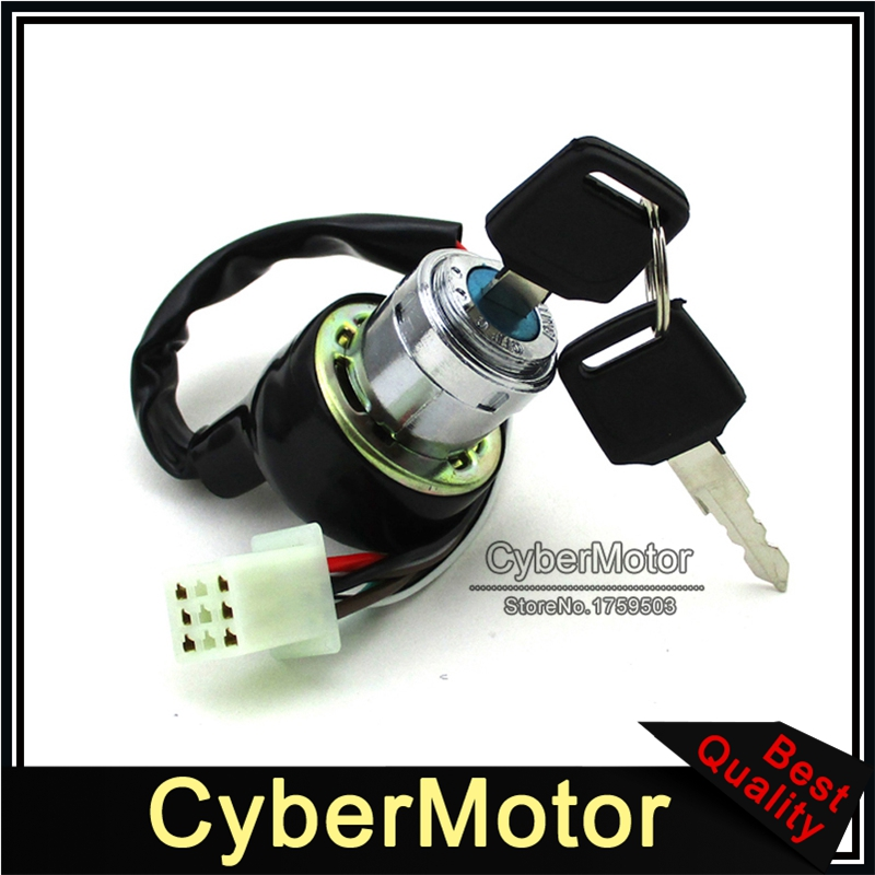 Race-Guy 4 Wire Motorcycle On Off Kill Ignition Key Switch For Chinese Scooter Moped ATV Quad Go Kart Dirt Pit Bike 4 Wheeler Buggy
