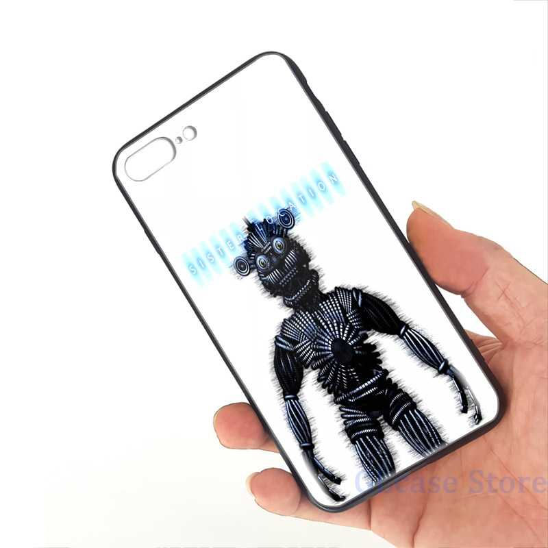 Five Nights at Freddys Sister Location Yenndo Phone Case For iPhone 11 Pro X XR XS Max 8 7 6 6s Plus 5s TPU Glass Back Cover