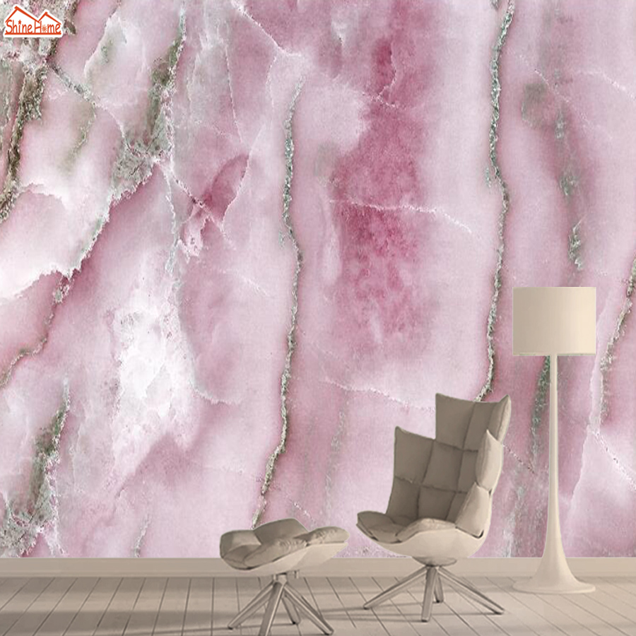 3d Wallpapers For Living Room Bedroom Wallpaper Contact Wall Paper Papers Home Decor Modern Pink Marble Peel Stick Murals Rolls