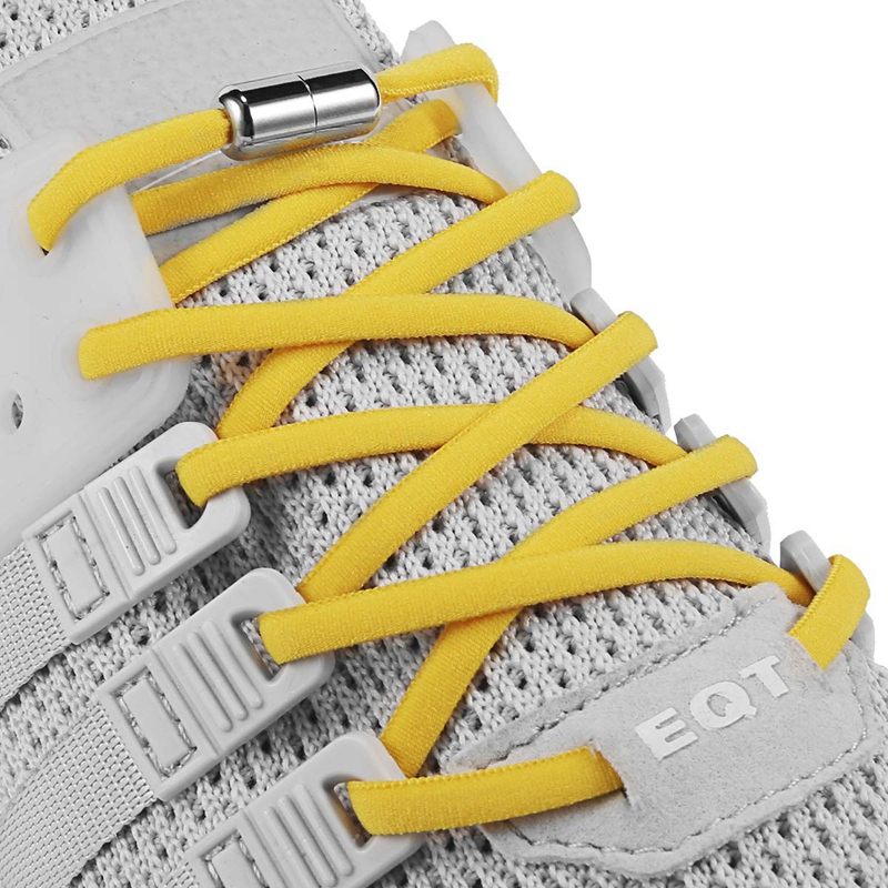 1Pair Elastic Shoelaces Round No Tie Shoe Laces For Kids And Adult Sneakers Shoelace Quick Lazy Laces 19 Color Shoestrings