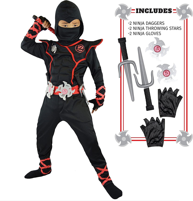 Unisex Child Ninja Deluxe Costume for Kids Role Play Halloween Dress up| | - AliExpress