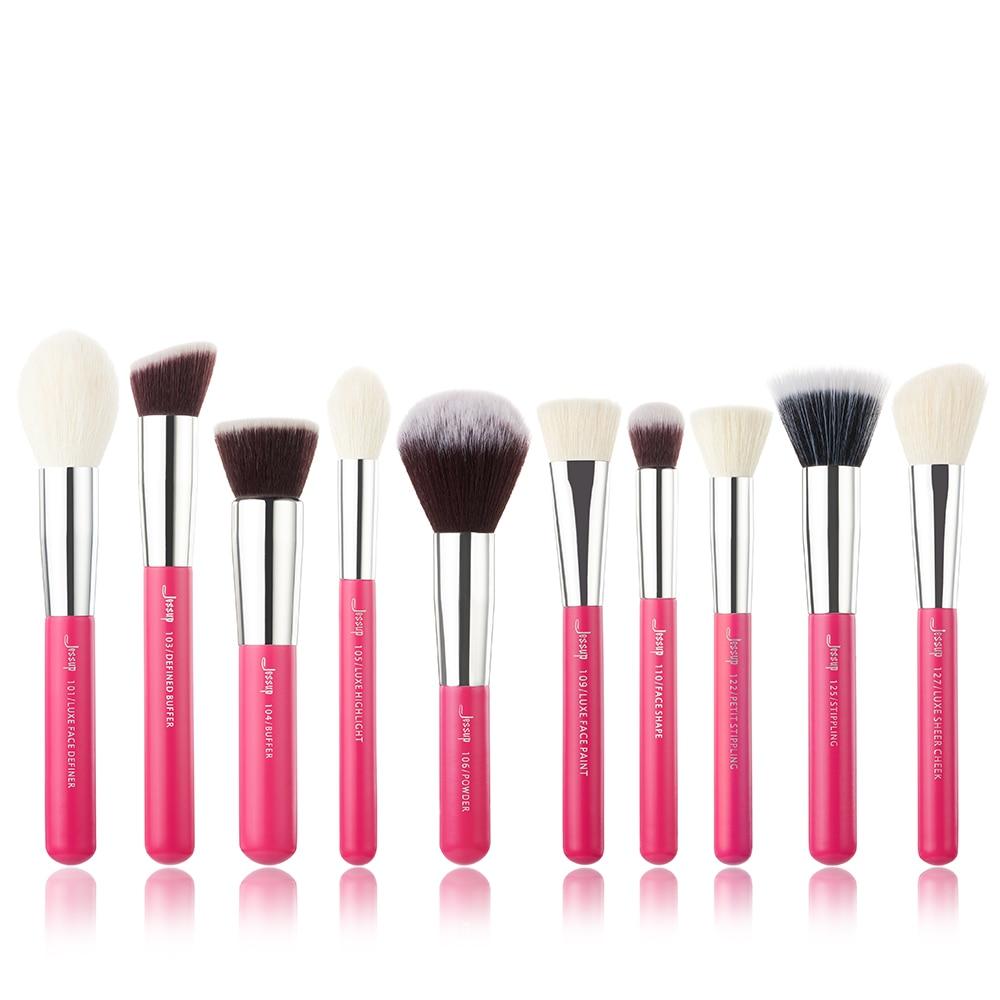 Image 5 - Jessup Beauty 10pcs Goat Synthetic Hair Makeup Brushes Set Eyeshadow Foundation Powder Concealer Cosmetic Kit  5 colorsbrush tool kitjessup brushesmakeup brushes set makeup -