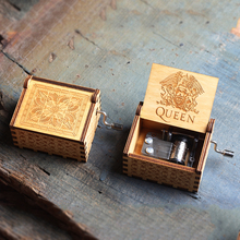 NEW QUEEN Music Box LOVE DAD And MAM My Sun Theme Antique Carved Wooden Hand Crank Mom and Dad Gifts Birthday Gift