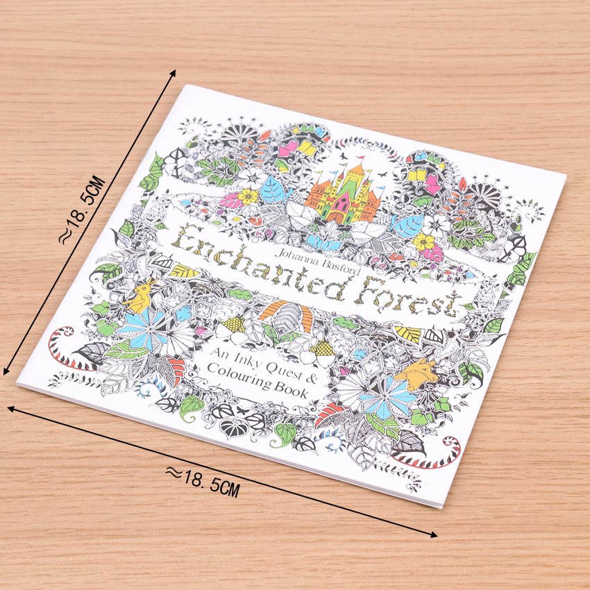 Enchanted Forest English Edition Coloring Book For Children Adult Relieve Stress Kill Time Painting Drawing Book 24 Pages