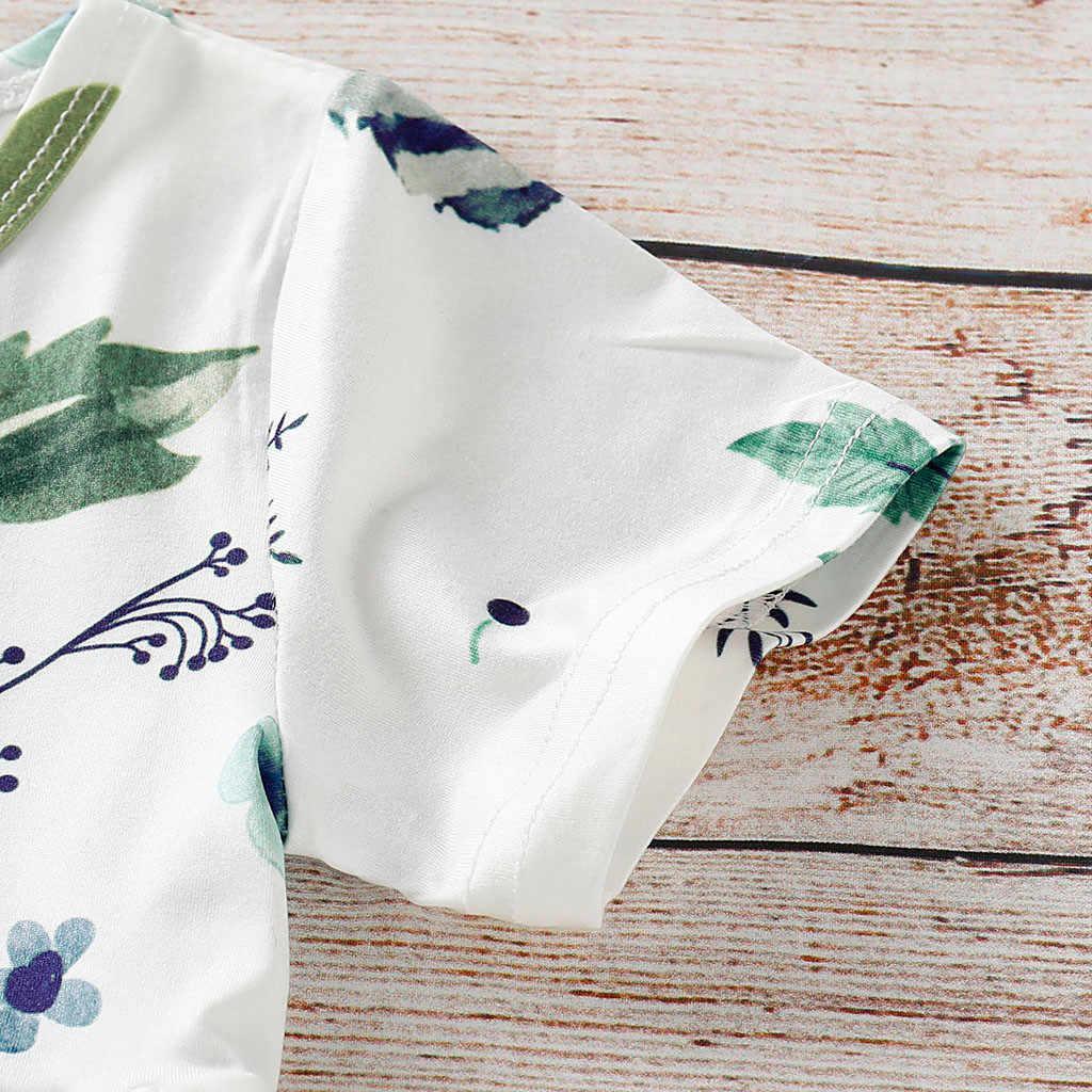 Baby Girl ubrania kwiatowe krótkie bluzki + dziura spodnie dżinsowe Jean maluch Kid ubrania stroje zestaw ubrania z krótkim rękawem boutique ubrania