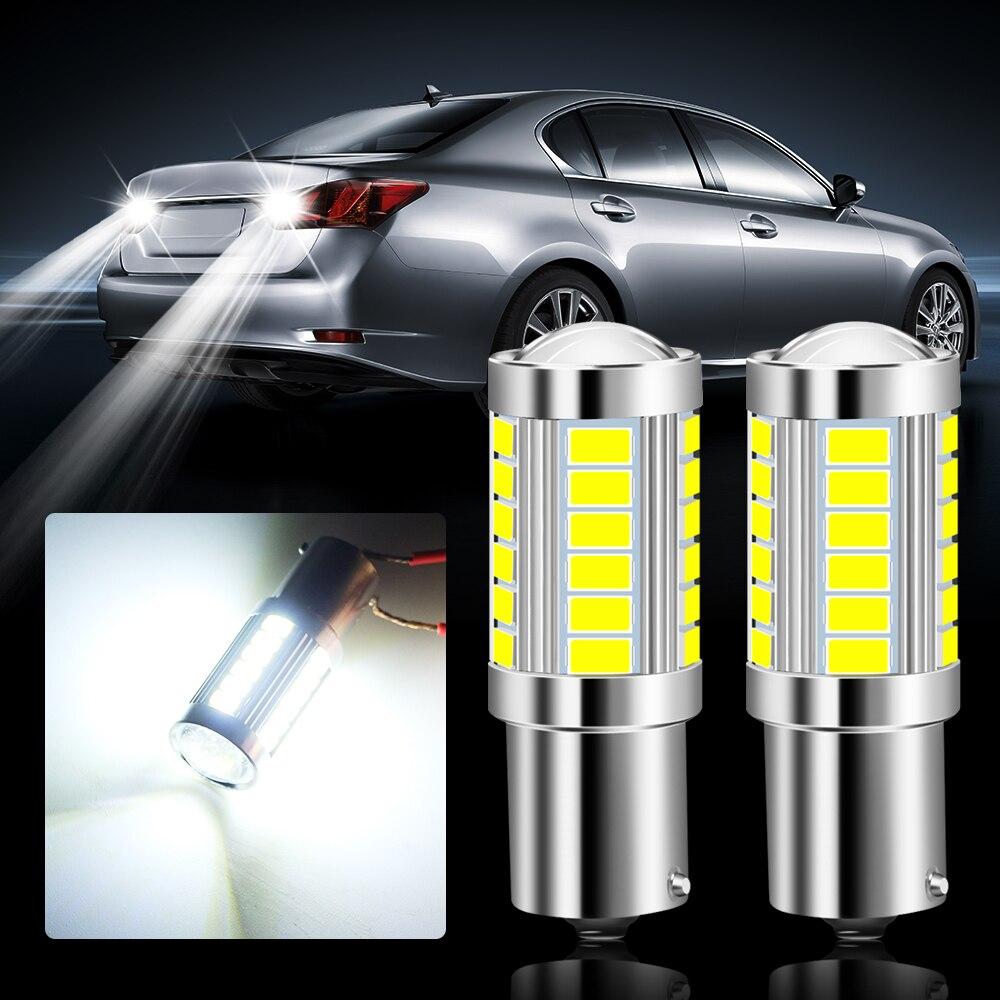 Luces LED para coche, luz de freno y marcha atrás P21W 1156 para audi a4 b6 b7 b8 a3 8p 8v a6 c6 para vw passat b5 b6 b7 golf 4 7