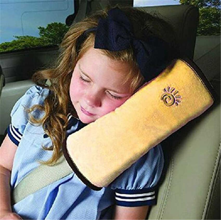 1 adet sıcak satış bebek yastık araba oto emniyet emniyet koşum kemeri omuz koruyucu örtü çocuk koruma yastık kapakları destek yastığı