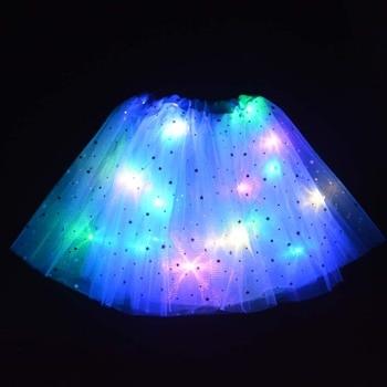 Teenage Women Girl Child Star Light Up Tulle Tutu Skirts Hen Party Halloween Led Clothes Christmas  Wedding Decorations navidad 1