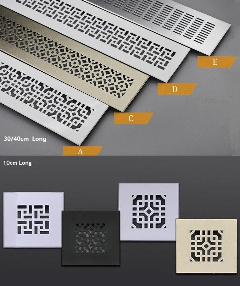 Wide Square Rectangle Aluminum Air Vent Ventilator Grille Cover Air Conditioner Closet Shoe Cabinet
