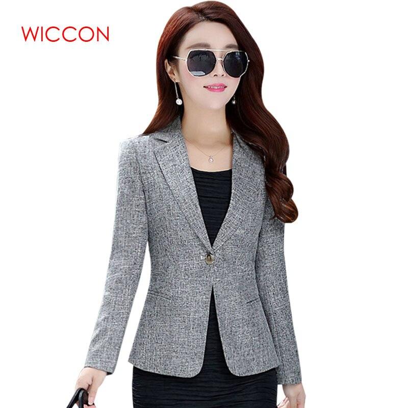 2020 New Spring Autumn Plus Size 4XL Womens Business Suits One Button Office Female Blazers Jackets Short Slim Blazer Women Suit