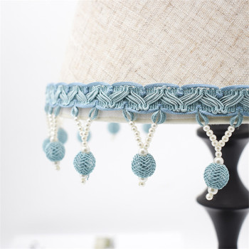 12M/lot Beads Curtain Lace Trims Sofa Stage Valance Lamp Decor Curtain Accessories Tassel Fringe Lace Ribbon Belt DIY Sewing