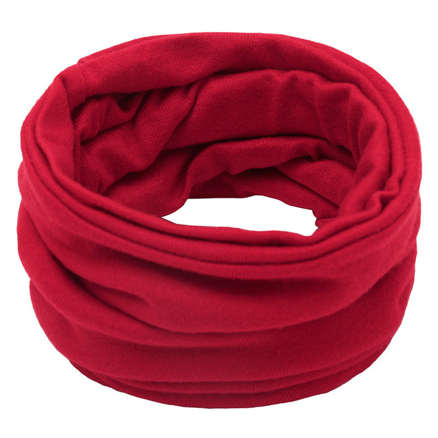Sleeper #P501 2019 FASHION Unisex Solid Color Neck Warmer Fleece Knitted Scarf Scarves for boy girls Shawl Cowl шарф winter